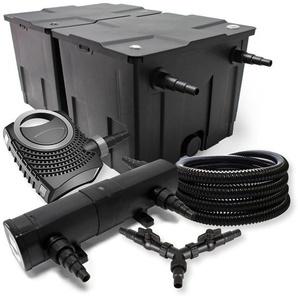 SunSun Filter Set 60000l Teich 36W Teichklärer NEO10000 80W Pumpe 25m Schlauch - WILTEC