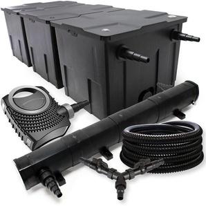 SunSun Filter Set 90000l Teich 72W Teichklärer NEO10000 80W Pumpe 25m Schlauch - WILTEC