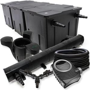 SunSun Filter Set 90000l Teich 72W Teichklärer NEO10000 80W Pumpe 25m Schlauch Skimmer SK30 - WILTEC