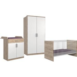 Wimex Babyzimmer-Komplettset Kiel, (3 St.), Bett + Wickelkommode 2-trg. Schrank ohne Schubladen, B/H: 70 cm x 140 weiß Baby Baby-Möbel-Sets Babymöbel