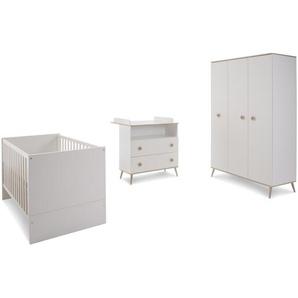 WIMEX Babyzimmer-Set, Weiß / Eiche