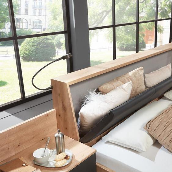 Wimex Bettanlage Bristol Kunstleder, mit Bettkasten im Kopfteil beige Komplett Schlafzimmer Schränke Schlafzimmermöbel-Sets
