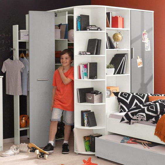 Eck-Kleiderschrank  begehbar »Joker«, 124x198x148 cm (BxHxT), WIMEX, weiß, Material Kunststoff, Metall