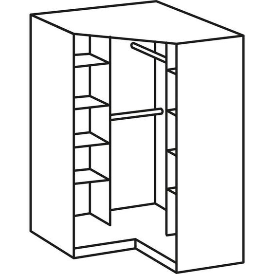 Eck-Kleiderschrank »Click«, WIMEX, weiß, Material Kunststoff, Metall, Leinen