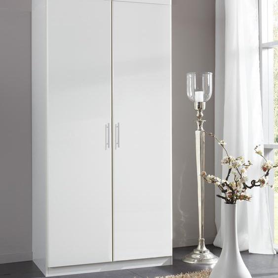Eck-Kleiderschrank »Spectral«, 90x175x58 cm (BxHxT), WIMEX, weiß, Material Leinen, Kunststoff, Metall, mit Schubkästen