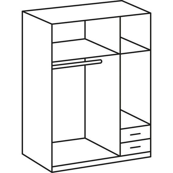 Eck-Kleiderschrank »Spectral«, 135x175x58 cm (BxHxT), WIMEX, weiß, Material Leinen, Kunststoff, Metall, mit Schubkästen