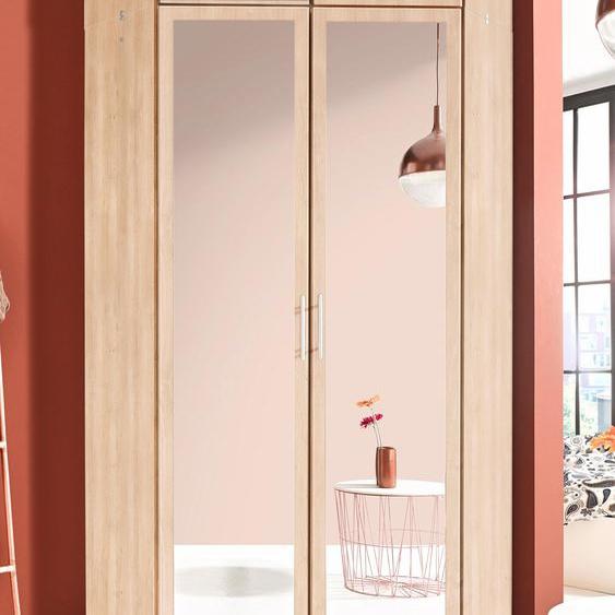 Wimex Eckkleiderschrank Runner mit Spiegel beige Eckschränke Kleiderschränke