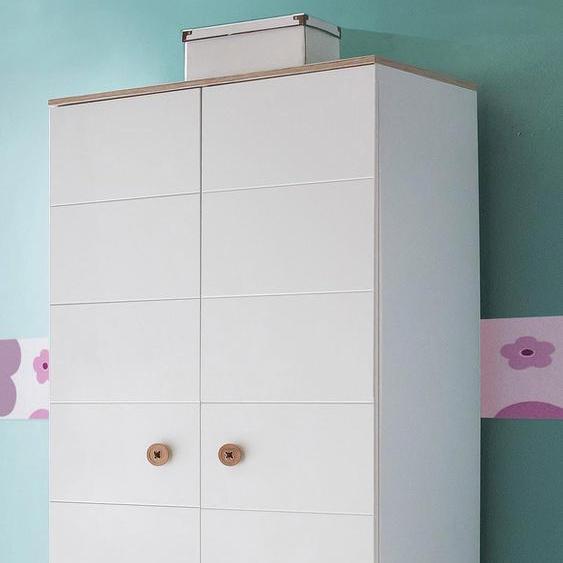 Wimex Kleiderschrank Billund 84 x 202 55 (B H T) cm, 2-türig weiß Kinder Kinderschränke Kindermöbel Schränke