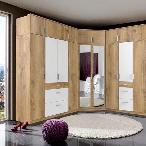 Kleiderschrank »Click«, 135x199x58 cm (BxHxT), WIMEX, beige, Material Metall, mit Schubkästen