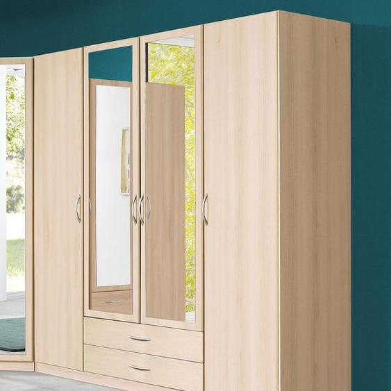 Wimex Kleiderschrank Sprint B/H/T: 180 cm x 197 58 cm, mit Spiegel, 4 beige Drehtürenschränke Kleiderschränke