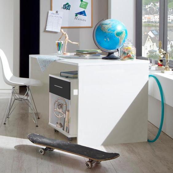 Wimex Rollcontainer Joker Weiß, Abs. Graphit, 46x45x59 cm weiß Büroschränke Büromöbel Rollwagen