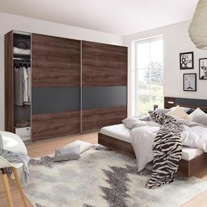 Wimex Schlafzimmer-Set »Angie«, grau, Set aus Schrank, Bett und 2 Nachttischen