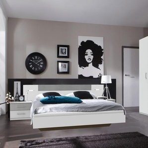 Wimex Schlafzimmer-Set »Angie«, weiß, Set aus Schrank, Bett und 2 Nachttischen
