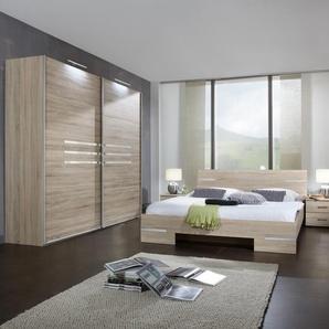 Wimex  Schlafzimmer-Set  »Anna«, beige, mit Schwebetürenschrank, Bett und 2 Nachttischen
