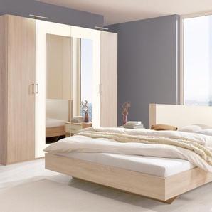 Wimex  Schlafzimmer-Set mit Drehtürenschrank (4-tlg.), pflegeleichte Kunststoffoberfläche, beige
