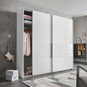 Wimex  Schrank mit Schwebetüren  mit Glaselementen und zusätzlichen Einlegeböden »Bramfeld«, weiß