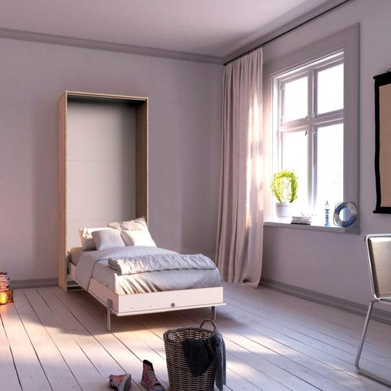 WIMEX Schrankbett, weiß, Material Eiche / Holzwerkstoff »Juist«