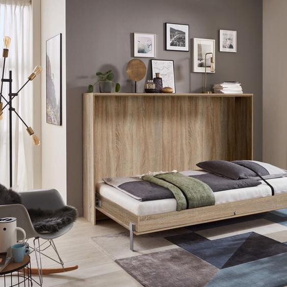 Wimex Schrankbett Juist 140x200 cm braun Klappbetten Gästebetten Betten Schrankbetten