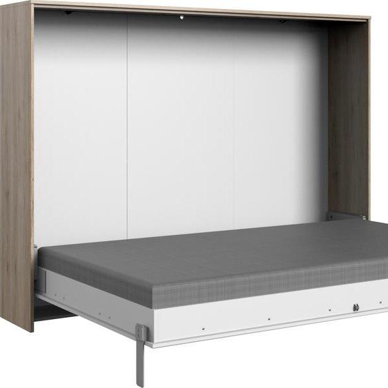 Schrankbett »Juist«, weiß, Material Eiche / Holzwerkstoff