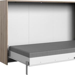 Wimex Schrankbett Juist, horizontal klappbar Lattenrost, B/L: 120 cm x 200 Betthöhe: 12 cm, kein Härtegrad, ohne Matratze weiß Funktionsbetten Betten Schlafzimmer