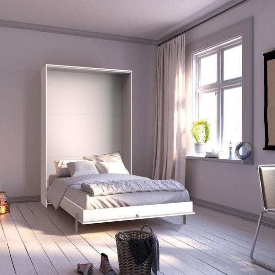 Wimex Schrankbett Juist, vertikal klappbar Lattenrost, B/L: 140 cm x 200 Betthöhe: 12 cm, Gewicht, ohne Matratze weiß Doppelbetten Betten