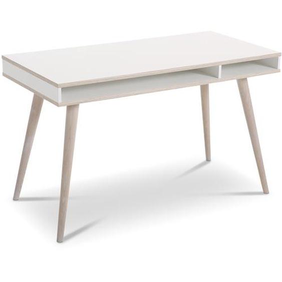 WIMEX Schreibtisch, Weiß / Eiche