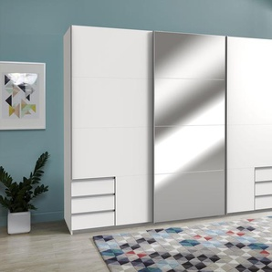 Wimex Schwebetürenschrank »Seattle«, 1 Tür mit Spiegelelementen, Breite 270 cm, 3-türig, weiß
