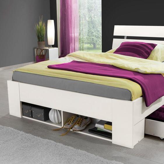 WIMEX Stauraum-Bett, weiß, Material Metall / Kunststoff »Rocco«, mit Schubkästen