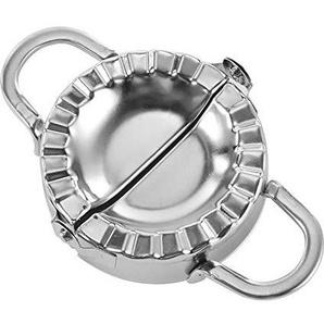 Winbang Knödelform, Edelstahl Teigpresse Hersteller Dumpling Pie Ravioli Formenbauwerkzeuge DIY, Silber (Packung mit 1)