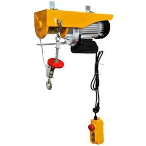WinchPro - Elektrisch Seilzug 220V, Seilzug, 400/800kg Kapazität, 1450w Motorleistung, Max. Hubhöhe 12m, Robuste Konstruktion, Stahlseildurchmesser 6mm