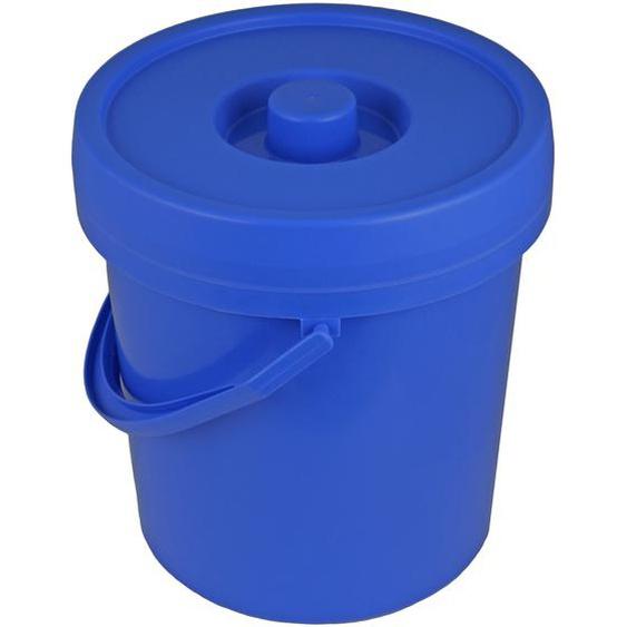 Windeleimer 12 l blau-weiß