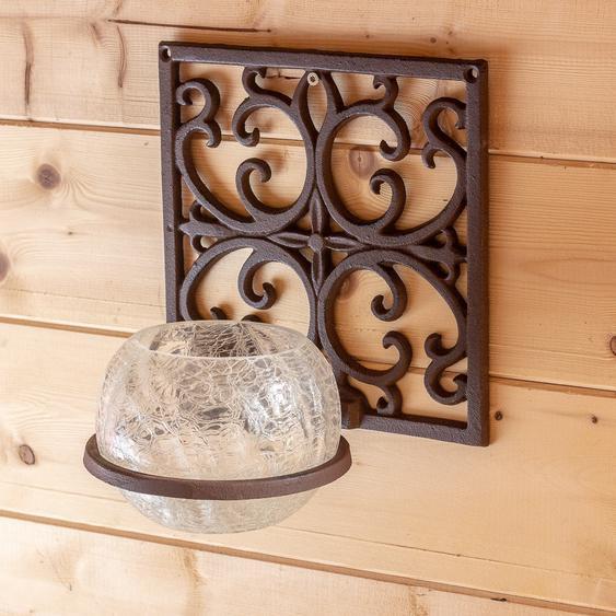Windlicht El Andalus, Wandlicht mit Glaskugel, Topfhalter Blumen spanischer Stil