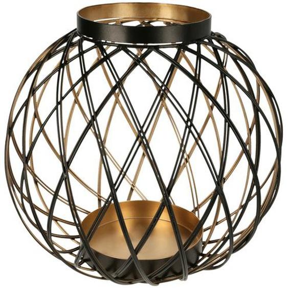 Windlicht - gold - Metall | Möbel Kraft
