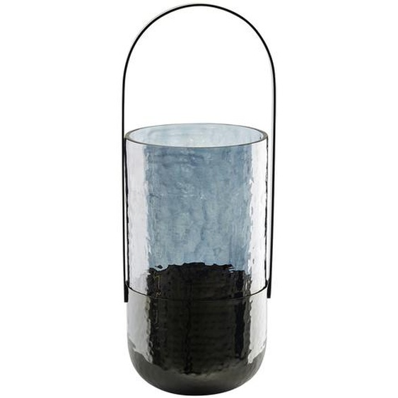 Windlicht - grau - Glas , Metall | Möbel Kraft
