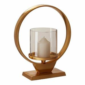 Windlicht-Set aus Glas/Metall