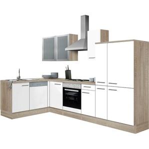 OPTIFIT Winkelküche »Kalmar«, weiß, Energieeffizienzklasse: B