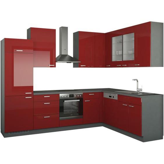 Winkelküche ohne Elektrogeräte  München ¦ rot