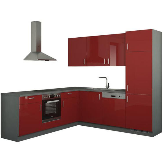 Winkelküche ohne Elektrogeräte  Stuttgart ¦ rot