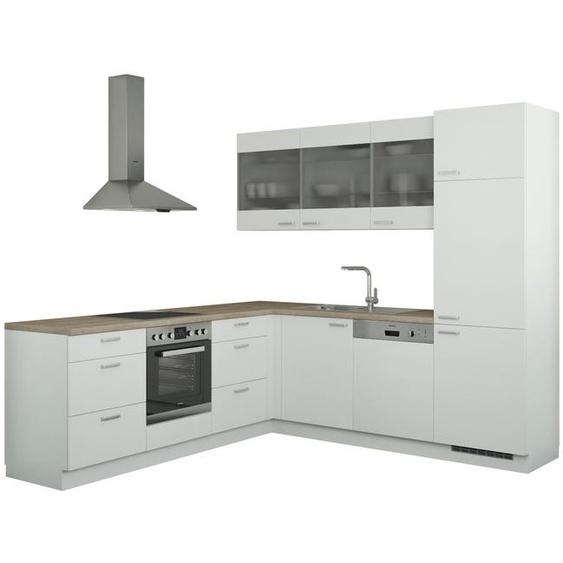 Winkelküche ohne Elektrogeräte  Sylt ¦ weiß
