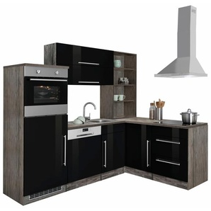 Winkelküche , schwarz, »Samos«, HELD MÖBEL