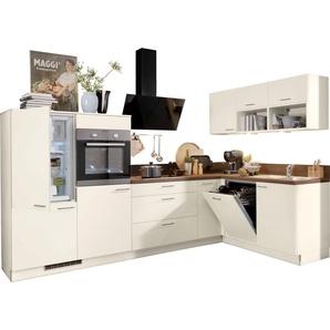 Winkelküche »Scafa«, rosa, Energieeffizienzklasse: C, Hochglanz, Express Küchen