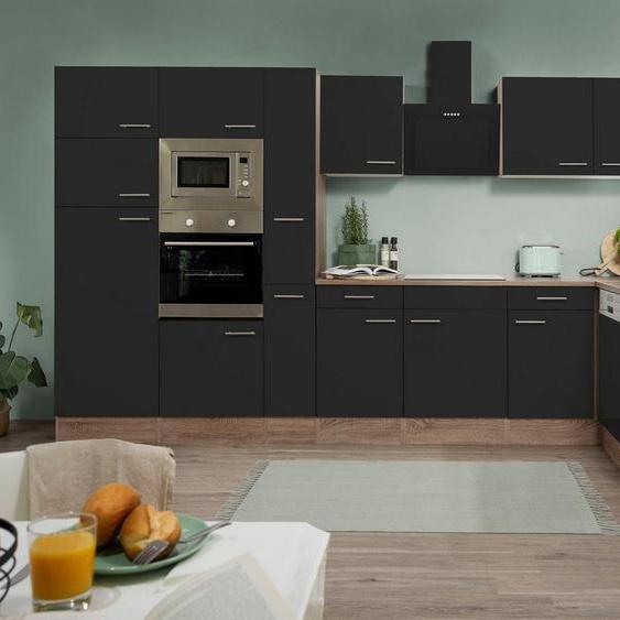 Winkelküche »York«, mit E-Geräten, Breite 370 x 172 cm, Energieeffizienz: B