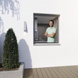 wip Insektenschutz für Fenster, Aluminium, 4,3 mm Einbautiefe, ohne Bohren