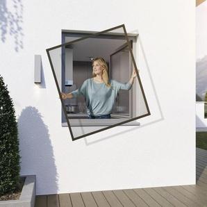 wip Insektenschutz Spannrahmen, B 130 x L 150 cm, Aluminiumprofil, Befestigung ohne Bohren