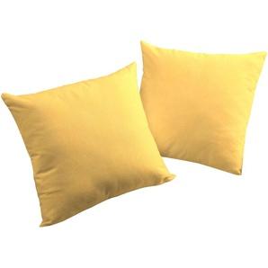 Wirth Kissenhülle, 2x 50x50 cm, gelb