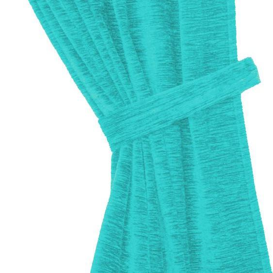 Wirth Raffhalter Thermo-Chenille 288g/m² B/H: 60 cm x 6 blau Zubehör für Gardinen Vorhänge