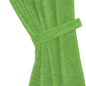 Wirth Raffhalter Thermo-Chenille 288g/m² B/H: 100 cm x 6 grün Zubehör für Gardinen Vorhänge