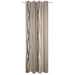 Wirth Vorhang »Brooklyn«, H/B 245/145 cm, braun, blickdichter Stoff