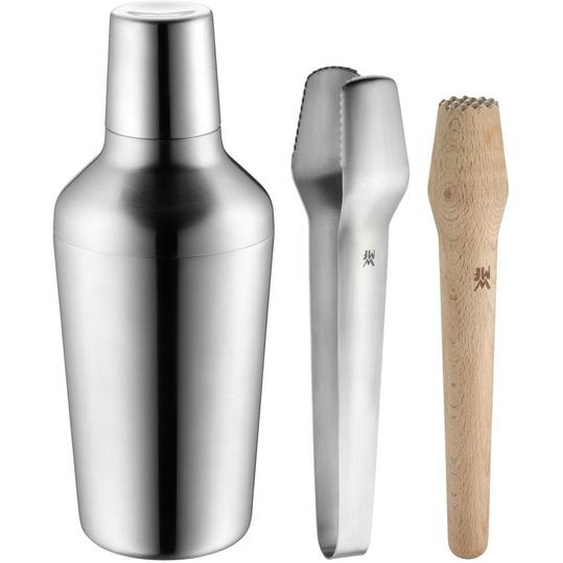 WMF Cocktail-Set , Braun , Holz, Metall , Buche , 700 ml , 10x24x10 cm