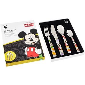 WMF Disney Mickey Mouse Kinderbesteck, 4-teilig, ab 3 Jahren, Cromargan Edelstahl poliert, spülmaschinengeeignet, farb- und lebensmittelecht